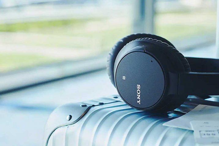 Different brands of wireless headphones