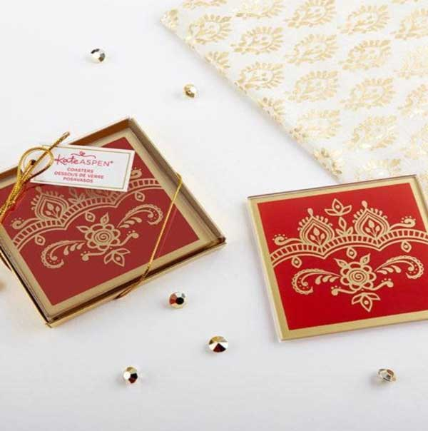 Indian Jewel Glass Coasters