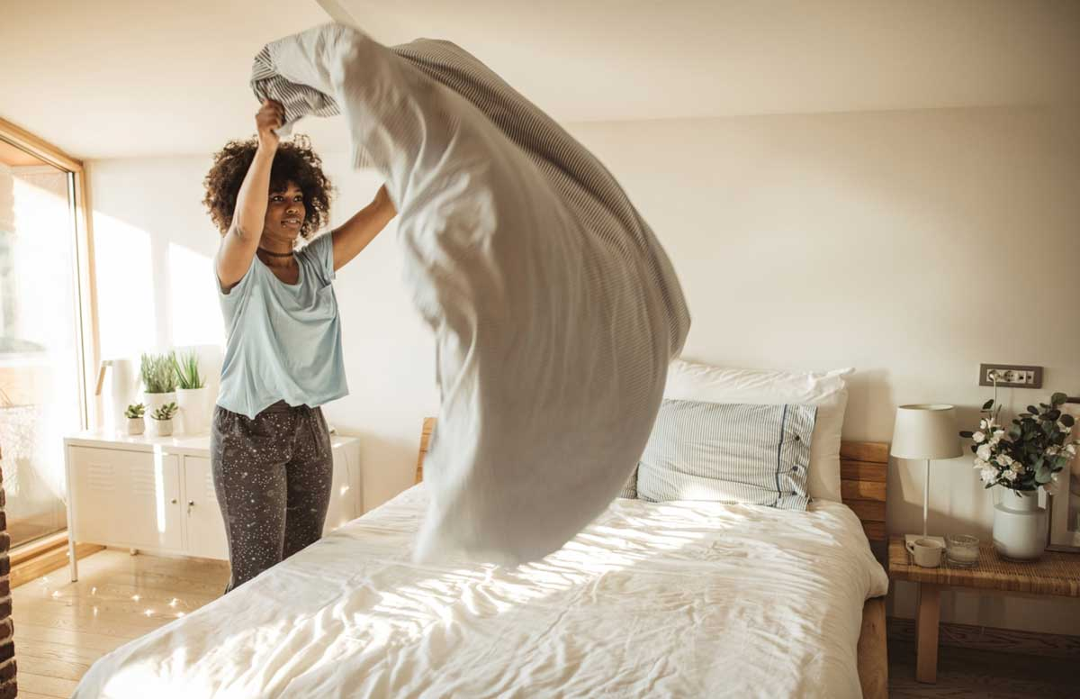 Make your bed in the morning