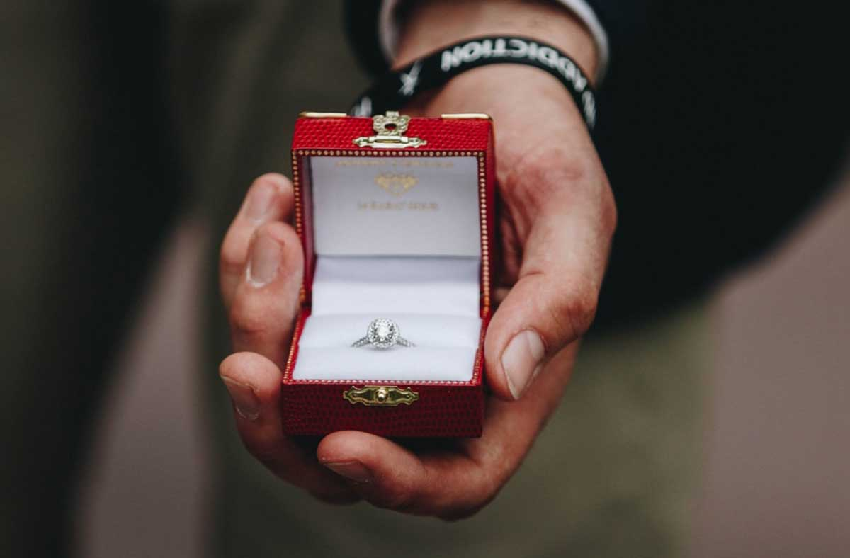 You can propose with or without a ring.