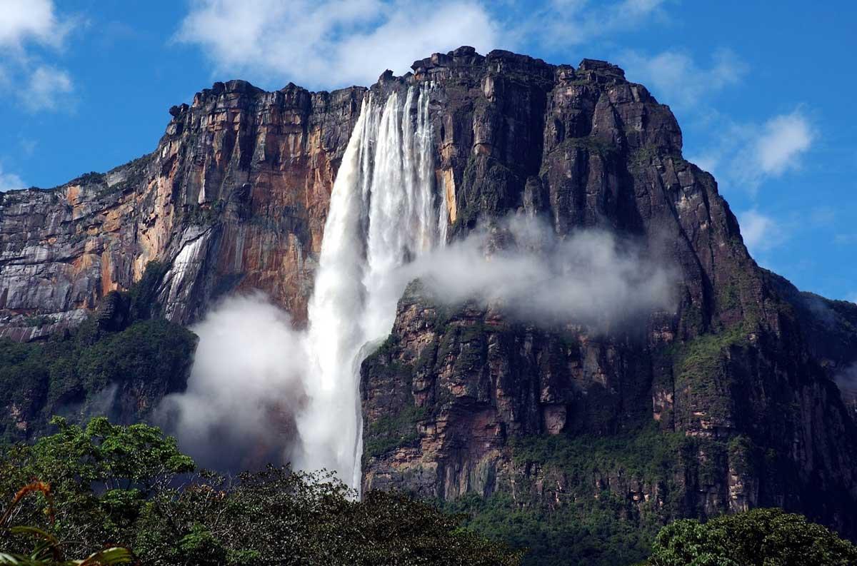 Permanent Waterfall Of Venezuela