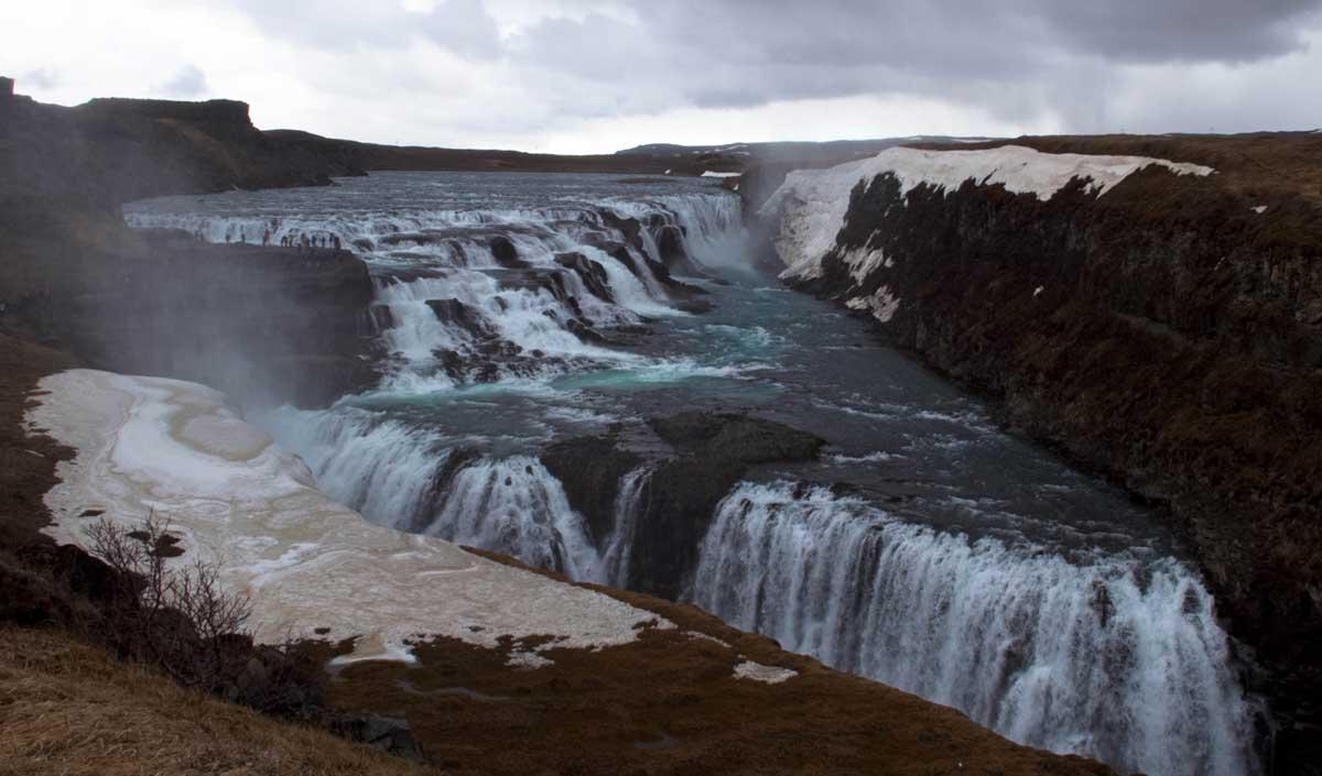The Gullfoss Waterfall Of Iceland